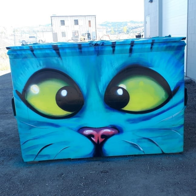 Blue Cat Bin Mural — Kelly Wright